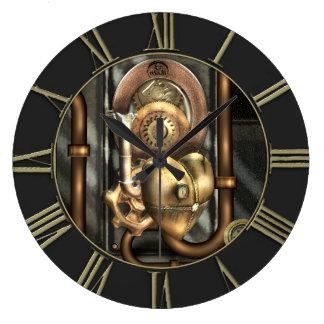 Steampunk en el corazón relojes de pared