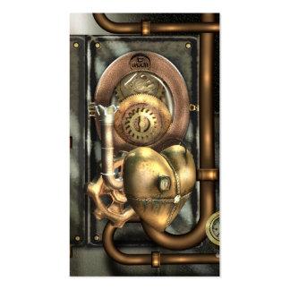 Steampunk en el corazón tarjetas de visita
