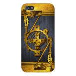 Steampunk en madera y latón iPhone 5 cárcasa