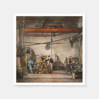 Steampunk - en una tienda vieja 1866 del reloj servilleta de papel