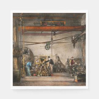 Steampunk - en una tienda vieja 1866 del reloj servilletas de papel