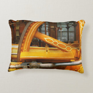 Steampunk - Engine - You are so flywheel Accent Pillow