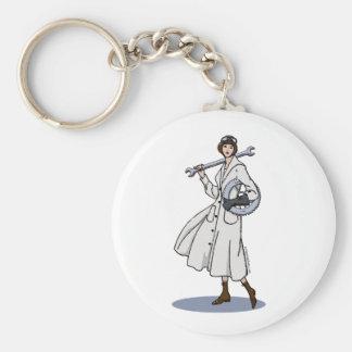 Steampunk Engineer Basic Round Button Keychain