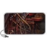 Steampunk - engranaje - correas y ruedas laptop altavoz