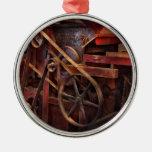 Steampunk - engranaje - correas y ruedas ornamento de navidad