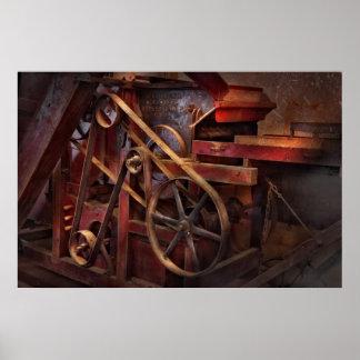 Steampunk - engranaje - correas y ruedas impresiones