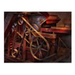 Steampunk - engranaje - correas y ruedas postales