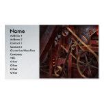Steampunk - engranaje - correas y ruedas tarjeta de negocio