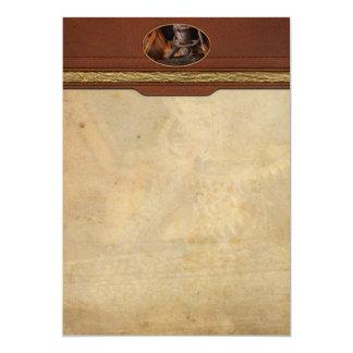 Steampunk - engranaje - fuera de servicio invitación 12,7 x 17,8 cm