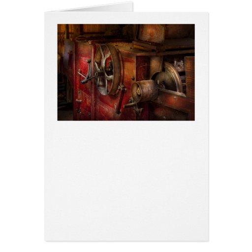 Steampunk - engranaje - trabajaba tarjeta de felicitación