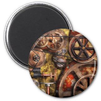 Steampunk - engranajes - funcionamientos internos imán de frigorifico