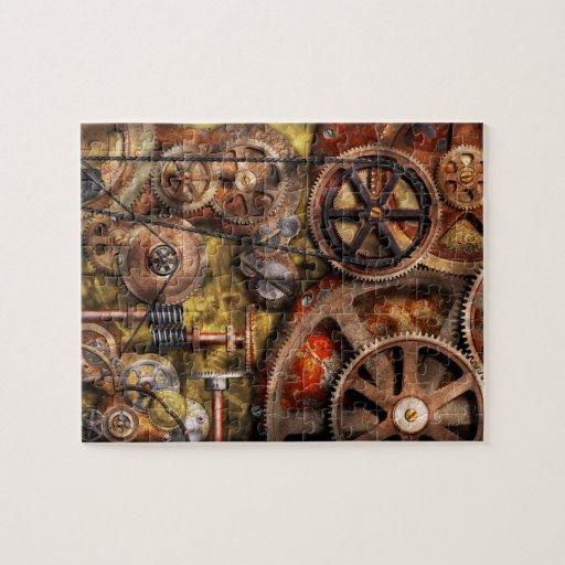 Steampunk - engranajes - funcionamientos internos puzzles con fotos