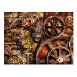 Steampunk - engranajes - funcionamientos internos postales
