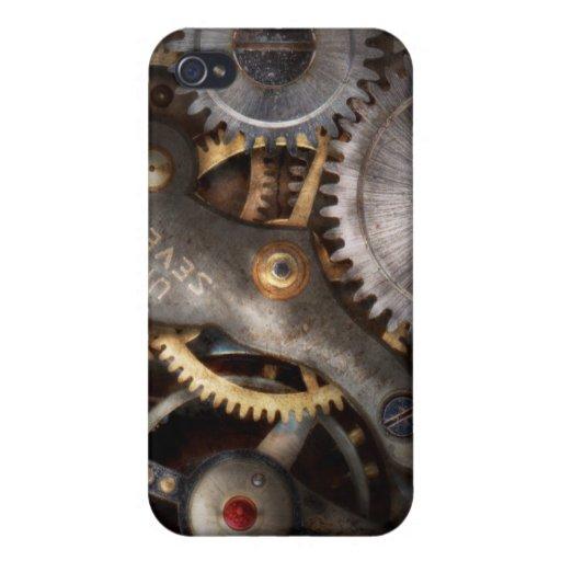 Steampunk - engranajes - horometría iPhone 4/4S carcasas