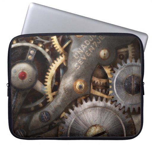Steampunk - engranajes - horometría fundas computadoras