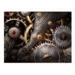 Steampunk - engranajes - horometría postal