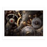 Steampunk - engranajes - horometría postales