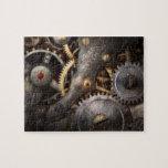 Steampunk - engranajes - horometría rompecabezas con fotos