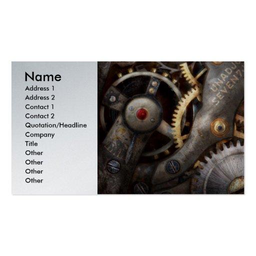 Steampunk - engranajes - horometría plantillas de tarjeta de negocio
