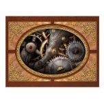 Steampunk - engranajes - horometría tarjetas postales