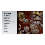 Steampunk - engranajes - ingeniería reversa tarjeta de visita