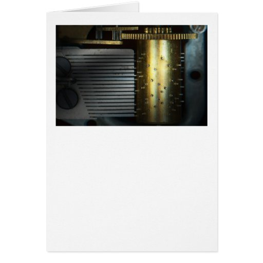 Steampunk - engranajes - máquina de la música tarjeta de felicitación