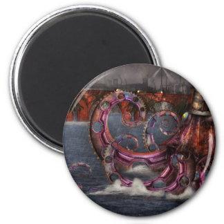 Steampunk - Enteroctopus magnificus roboticus Refrigerator Magnet