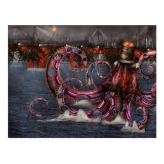 Steampunk - Enteroctopus magnificus roboticus Postcards
