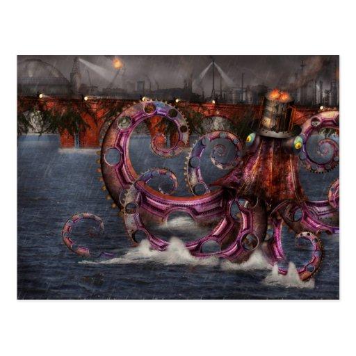 Steampunk - Enteroctopus magnificus roboticus Postcard