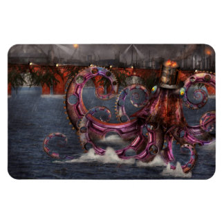 Steampunk - Enteroctopus magnificus roboticus Rectangular Magnets