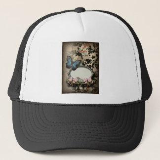 steampunk Ephemera floral Butterfly victorian Trucker Hat