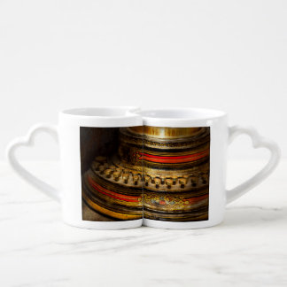 Steampunk - escritor de la muerte set de tazas de café