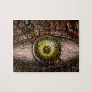 Steampunk - espeluznante - ojo en tecnología rompecabeza