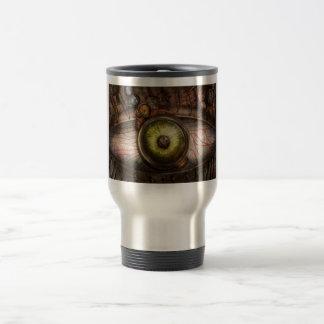 Steampunk - espeluznante - ojo en tecnología tazas de café