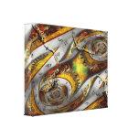 Steampunk - espiral - serie continua del tiempo de impresiones en lona estiradas