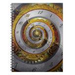 Steampunk - espiral - tiempo infinito libreta espiral