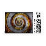 Steampunk - espiral - tiempo infinito sello postal