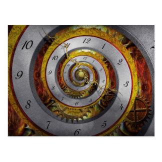 Steampunk - espiral - tiempo infinito tarjetas postales