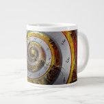Steampunk - espiral - tiempo infinito taza jumbo