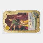 Steampunk ex Libris - placa de libro vidente del Rectangular Altavoces