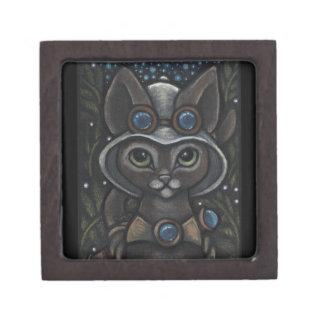 Steampunk Explorer Abyssinian Cat Keepsake Box