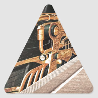 Steampunk Express Triangle Sticker