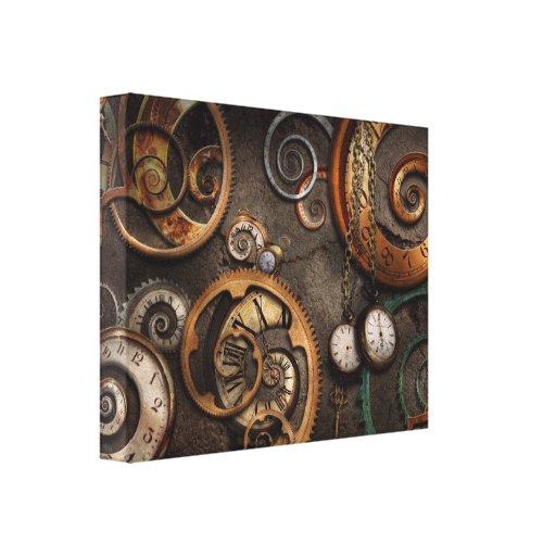 Steampunk - extracto - tiempo es complicado impresión en lona estirada
