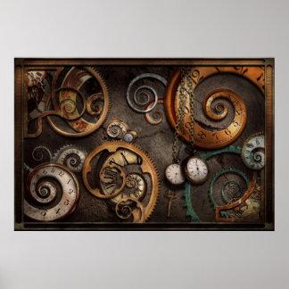 Steampunk - extracto - tiempo es complicado póster