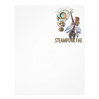 Steampunk Fae Membrete A Diseño