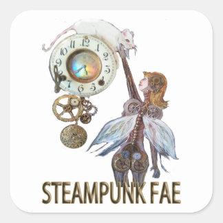 Steampunk Fae Pegatina Cuadrada