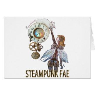 Steampunk Fae Tarjeta De Felicitación