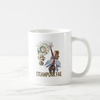 Steampunk Fae Taza Básica Blanca