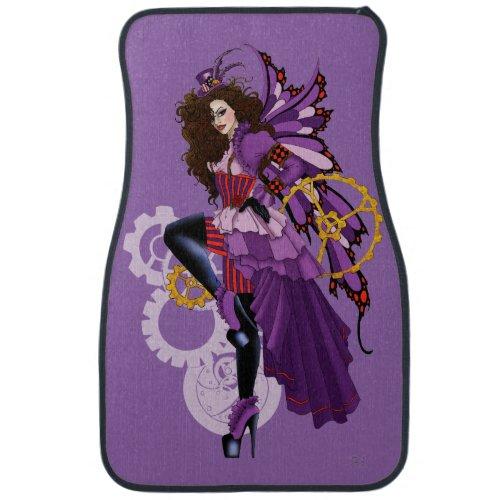 Steampunk fairy all in purple car floor mat