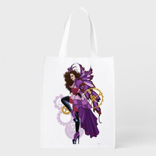 Golden Star Fairy Fantasy Art Shopping Bag Reusable Grocery Bags